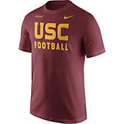 Nike Men's USC Trojans Cardinal Football Sideline Facility T-Shirt