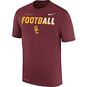Nike Men's USC Trojans Cardinal FootbALL Sideline Legend T-Shirt