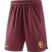 Nike Men's USC Trojans Cardinal Knit Football Sideline Performance Shorts