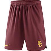Nike Men's USC Trojans Cardinal Knit Football Sideline Performance Shorts