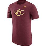 Nike Men's USC Trojans Heathered Cardinal Vault Tri-Blend T-Shirt