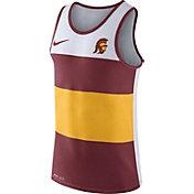 Nike Men's USC Trojans White/Cardinal/Gold Wide Stripe Dri-Blend Tank