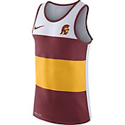 Nike Men's USC Trojans White/Cardinal/Gold Wide Stripe Dri-Blend Tank