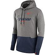Nike Men's Syracuse Orange Grey/Blue Therma Hoodie