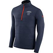 Nike Men's Syracuse Orange Blue Element Quarter-Zip Shirt