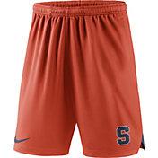 Nike Men's Syracuse Orange Orange Knit Football Sideline Performance Shorts