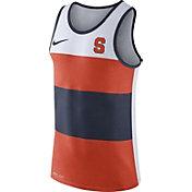 Nike Men's Syracuse Orange White/Orange/Blue Wide Stripe Dri-Blend Tank