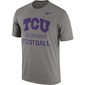 Nike Men's TCU Horned Frogs Grey Lift Football Legend T-Shirt