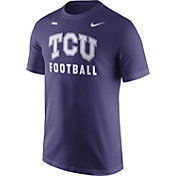 Nike Men's TCU Horned Frogs Purple Football Sideline Facility T-Shirt