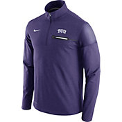 Nike Men's TCU Horned Frogs Purple Elite Coaches Half-Zip Shirt