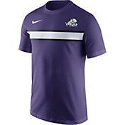 Nike Men's TCU Horned Frogs Purple Team Stripe Football T-Shirt
