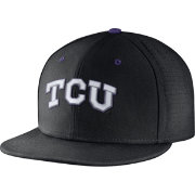 Nike Men's TCU Horned Frogs Black True Vapor Fitted Baseball Hat