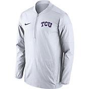 Nike Men's TCU Horned Frogs Lockdown White Half-Zip Performance Jacket