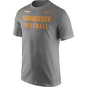 Nike Men's Tennessee Volunteers Gray Football Sideline Facility T-Shirt