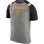 Nike Men's Tennessee Volunteers Gray/Black Shoulder Stripe T-Shirt