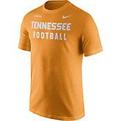 Nike Men's Tennessee Volunteers Tennessee Orange Football Sideline Facility T-Shirt