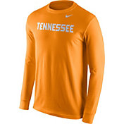 Nike Men's Tennessee Volunteers Tennessee Orange Wordmark Long Sleeve Shirt