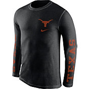 Nike Men's Texas Longhorns Black Fresh Tri-Blend Long Sleeve Shirt
