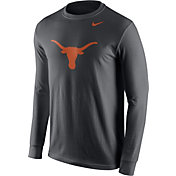 Nike Men's Texas Longhorns Anthracite Logo Long Sleeve Shirt
