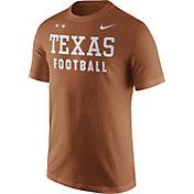 Nike Men's Texas Longhorns Burnt Orange Football Sideline Facility T-Shirt