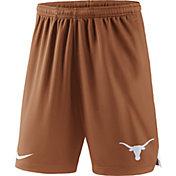 Nike Men's Texas Longhorns Burnt Orange Knit Football Sideline Performance Shorts