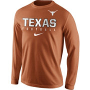 Nike Men's Texas Longhorns Burnt Orange Football Practice Long Sleeve Shirt