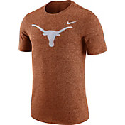 Nike Men's Texas Longhorns Burnt Orange Marled Logo T-Shirt