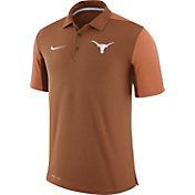 Nike Men's Texas Longhorns Burnt Orange Team Issue Football Sideline Performance Polo