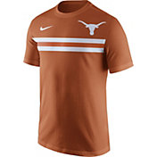 Nike Men's Texas Longhorns Burnt Orange Team Stripe Football T-Shirt