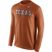 Nike Men's Texas Longhorns Burnt Orange Wordmark Long Sleeve Shirt
