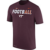 Nike Men's Virginia Tech Hokies Maroon FootbALL Sideline Legend T-Shirt