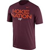 Nike Men's Virginia Tech Hokies Maroon 'Hokie Nation' Authentic Local Legend T-Shirt