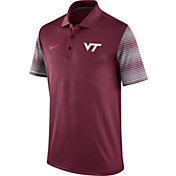 Nike Men's Virginia Tech Hokies Maroon Early Season Coach Polo