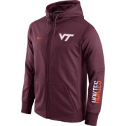 Nike Men's Virginia Tech Hokies Maroon Circuit Full-Zip Hoodie