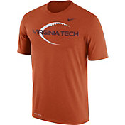 Nike Men's Virginia Tech Hokies Burnt Orange Football Icon Legend T-Shirt