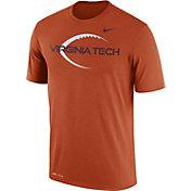 Nike Men's Virginia Tech Hokies Burnt Orange Football Icon Legend T-Shirt