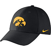 Nike Men's Iowa Hawkeyes Black Dri-FIT Wool Swoosh Flex Hat