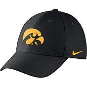 Nike Men's Iowa Hawkeyes Black Dri-FIT Wool Swoosh Flex Hat
