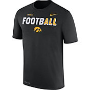 Nike Men's Iowa Hawkeyes FootbALL Sideline Legend Black T-Shirt