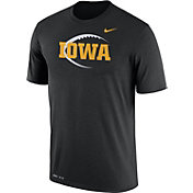 Nike Men's Iowa Hawkeyes Football Icon Legend Black T-Shirt