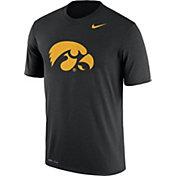Nike Men's Iowa Hawkeyes Black Logo Dry Legend T-Shirt