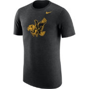 Nike Men's Iowa Hawkeyes Heathered Black Vault Tri-Blend T-Shirt