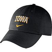 Nike Men's Iowa Hawkeyes Heritage86 Black Wordmark Swoosh Flex Hat