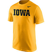 Nike Men's Iowa Hawkeyes Gold Wordmark T-Shirt