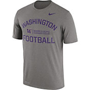 Nike Men's Washington Huskies Grey Lift Football Legend T-Shirt