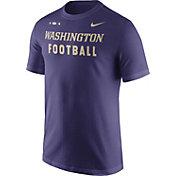 Nike Men's Washington Huskies Purple Football Sideline Facility T-Shirt