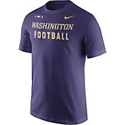 Nike Men's Washington Huskies Purple Football Sideline Facility T-Shirt