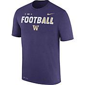 Nike Men's Washington Huskies Purple FootbALL Sideline Legend T-Shirt