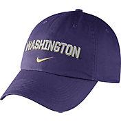 Nike Men's Washington Huskies Purple Heritage86 Wordmark Swoosh Flex Hat