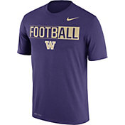 Nike Men's Washington Huskies Purple FootbALL Legend T-Shirt